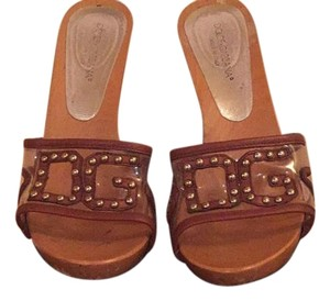 Dolce&Gabbana Brown & Clear Mules