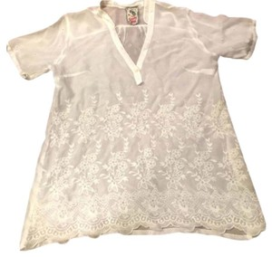 Johnny Was Embroidered Floral Summer Spring Tunic