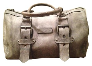 Longchamp Kate Moss Nubuck 100% Leather Distressed Satchel in Gray