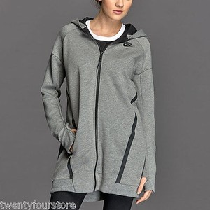 Nike Nike Tech Fleece Cocoon Jacket Hoodie Sweatshirt In Heathered Gray
