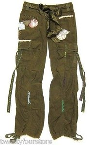 Forever 21 Twenty One Cargo Cargo Pants Green
