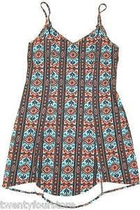 Urban Outfitters short dress Multi-Color Bohemian Bones Festival Print Relaxed Fit Shift on Tradesy