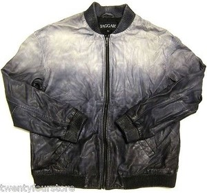 Jaggar Leather Bomber Jacket Coat