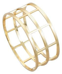 Other Gold-tone Cutout Caged Modern Bangle Bracelet