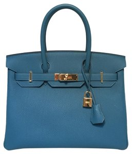 Herms Hermes Birkin Tote in blue