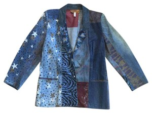 Roberto Cavalli Jacket Denim multi Blazer