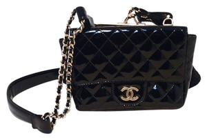 Chanel Classic Patent Leather Lace Lace Shoulder Bag