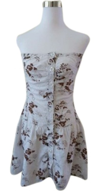 Preload https://item3.tradesy.com/images/guess-white-and-brown-floral-eyelet-lace-strapless-sundress-above-knee-short-casual-dress-size-8-m-161817-0-1.jpg?width=400&height=650