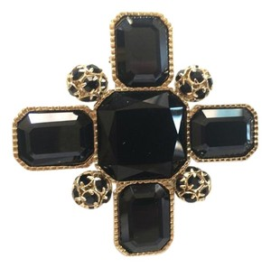 St. John ST JOHN BLACK AND GOLD BROOCH PIN