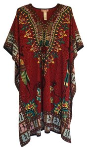 Red Maxi Dress by Band of Gypsies Tunic African Bohemian Swim Cover