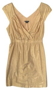 A|X Armani Exchange short dress Gold Empire Summer Spring on Tradesy
