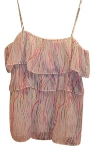 Julie Brown Top White/Multi Colored