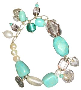 Silpada Howlite and stretch bracelet