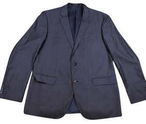 Hugo Boss Fitted Silk Wool Gray Blazer