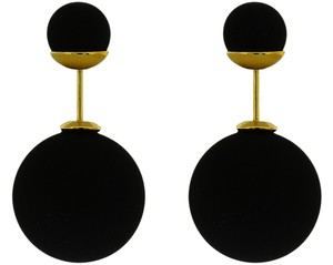 Other Modern Gems Tribal Black Matte Double Sided Celebrity Style 360 Stud Earrings