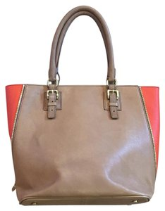 J.Crew Leather Colorblock Expanding Handbag Tote in Tan