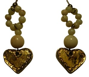 Unknown Vintage beads & hearts earrings