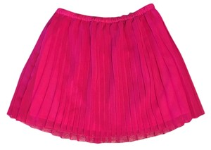 Madewell Designer Pleated Mini Skirt pink & Orange
