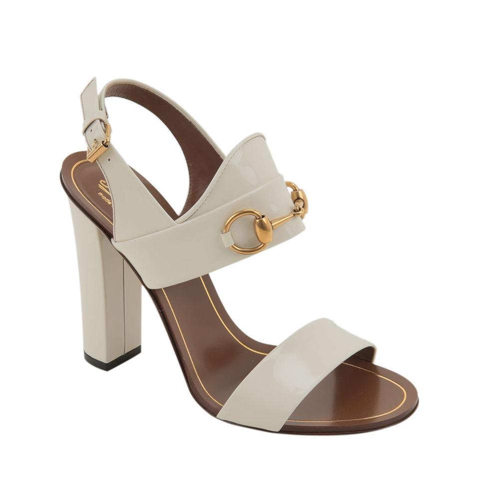 90ab0c89def Gucci Ivory Alyssa White Patent Leather High-heel Style No. 309822 ...