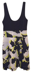 Express short dress Black white yellow on Tradesy
