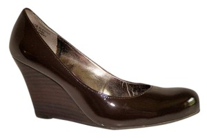 INC International Concepts Leather Non Skid Sole Brown Wedges