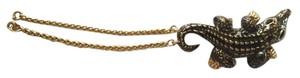 St. John St. John Gold Tone Alligator Key Chain Purse Charm