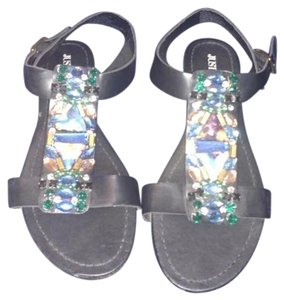JustFab Black with multi color stones Sandals