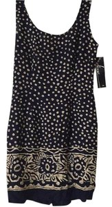 Elisse short dress blue multicolored on Tradesy