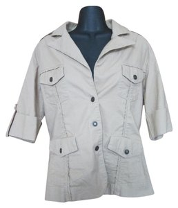 Boston Proper Spring Summer Casual Khaki Jacket