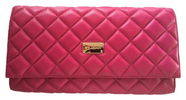 Item - Purse Magenta Pink Quilted Leather Clutch