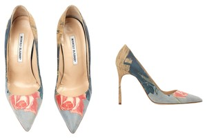 Manolo Blahnik Opening Ceremony Pastel Floral Pumps