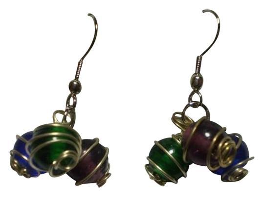 Other New Multi-Color Wire wrapped beads earrings