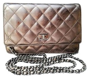 Chanel Woc Leather Clutch Reissue Wallet On A Chain Cross Body Bag