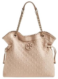 Tory Burch Chain Quilted Marion Marion Slouchy Nude Pink Hobo Bag