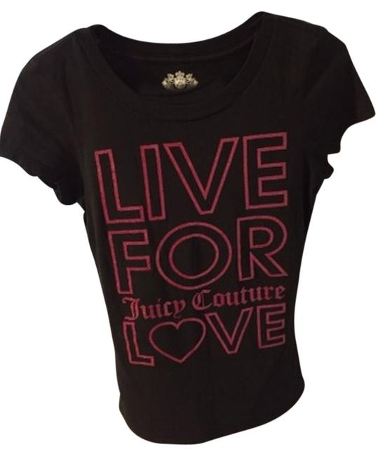Juicy Couture T Shirt Black And Pink