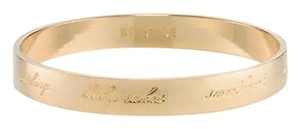 Kate Spade Kate Spade Engraved Bangle