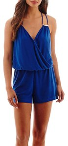 Bisou Bisou Romper Shorts Blue
