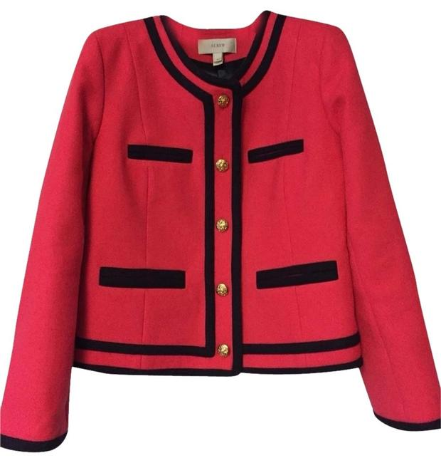 Preload https://item1.tradesy.com/images/jcrew-pink-with-navy-tipping-blazer-size-2-xs-1618550-0-0.jpg?width=400&height=650