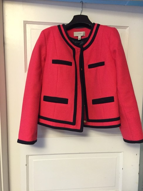 J.Crew Pink With navy Tipping Blazer