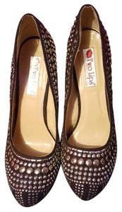 Two Lips studlee Prom black studded Pumps