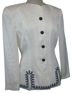 Adrianna Papell Silk Embroidered Vintage Cardigan