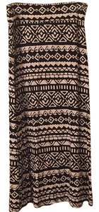 Justice Maxi Skirt Black white