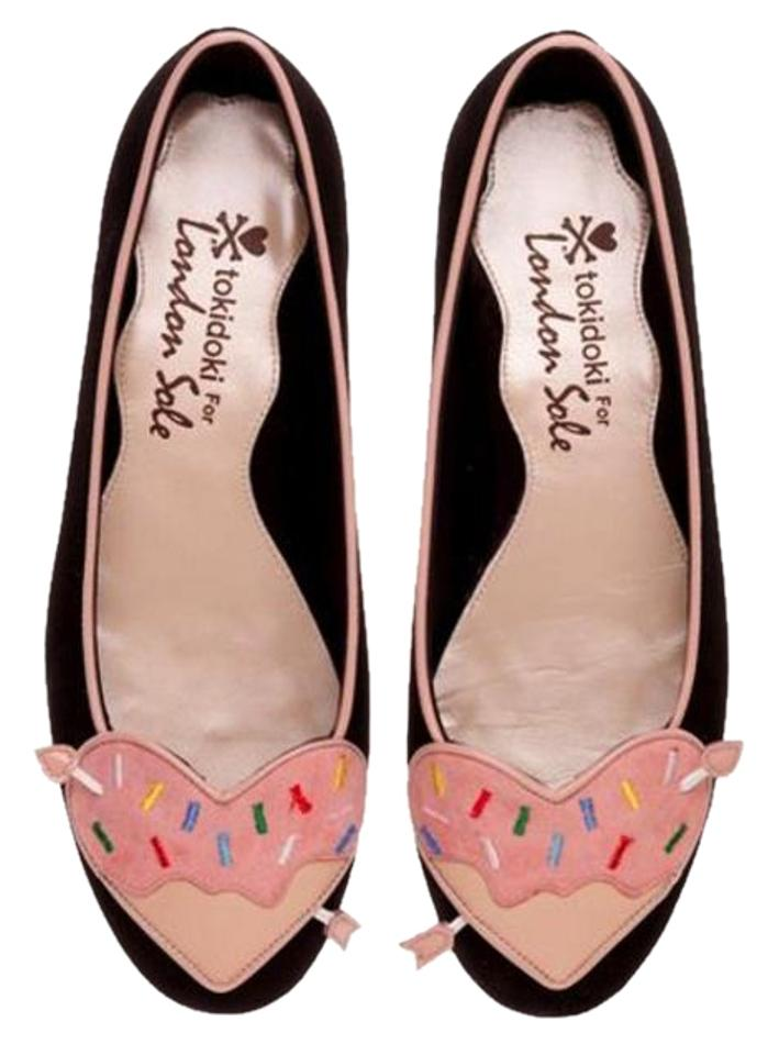 London Sole Black Black Black Tokidoki Sprinklettes Love Heart Flats c348ee