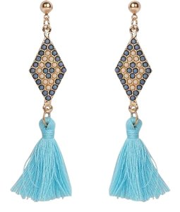Other Athena Tassel Earrings in Turquoise