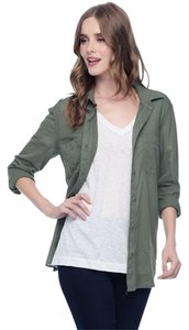 Splendid Button Down Shirt Dusty Olive