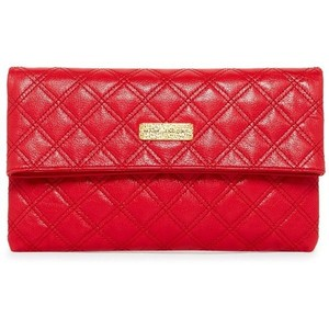 Marc Jacobs Quilted Gold Chain Red Clutch