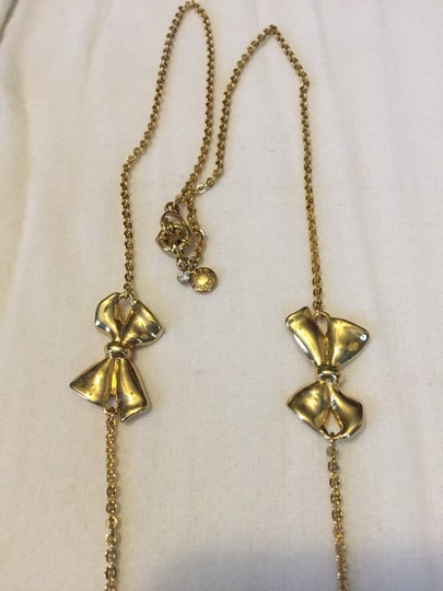 J.Crew Costume Gold Bow Necklace