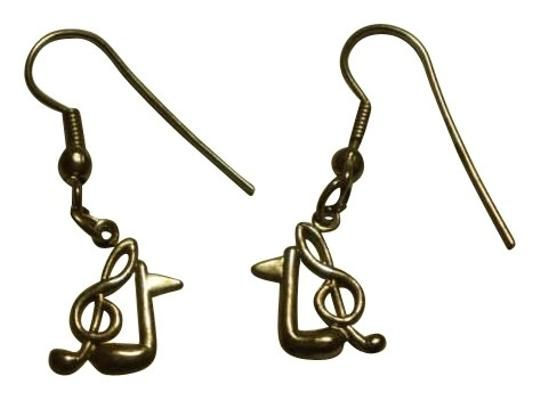 Unknown Vintage gunmetal musical notes earrings