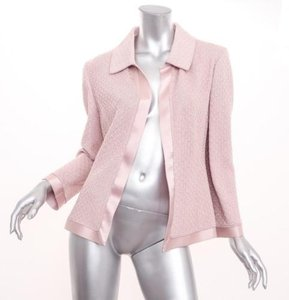 St. John Womens Knit Open Pink Jacket