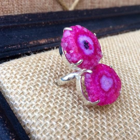 Other Pink solar quartz sterling silver ring